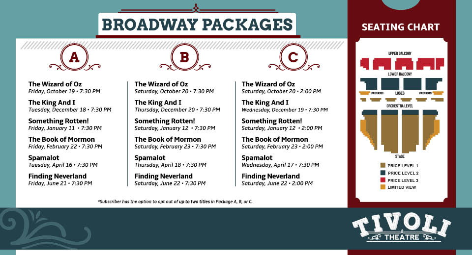 3f820d54d Take your Broadway experience to the next level and become a Friend of the  Tivoli! This membership program gives loyal supporters the opportunity to  enjoy ...